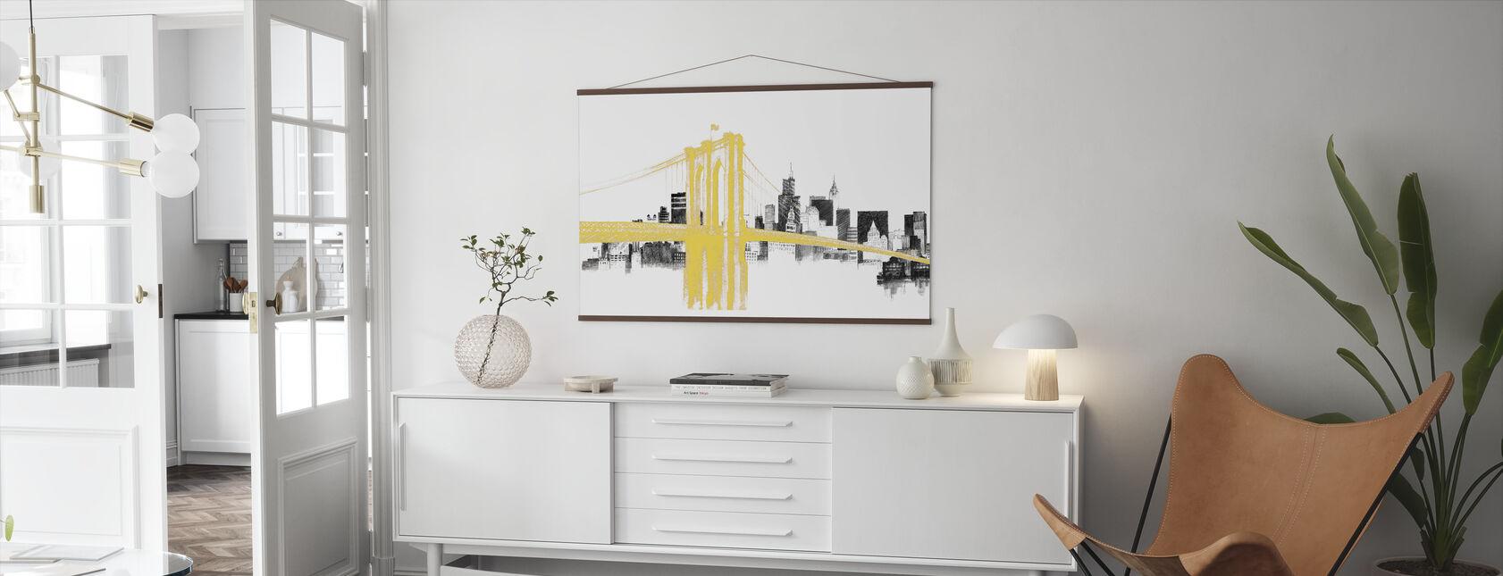 Skyline Crossing Yellow - Poster - Living Room