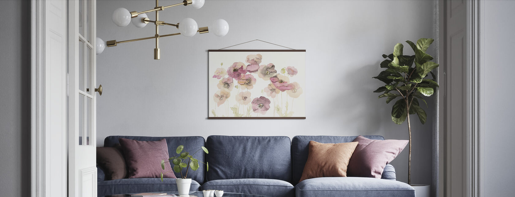 Delicate Poppies - Poster - Living Room
