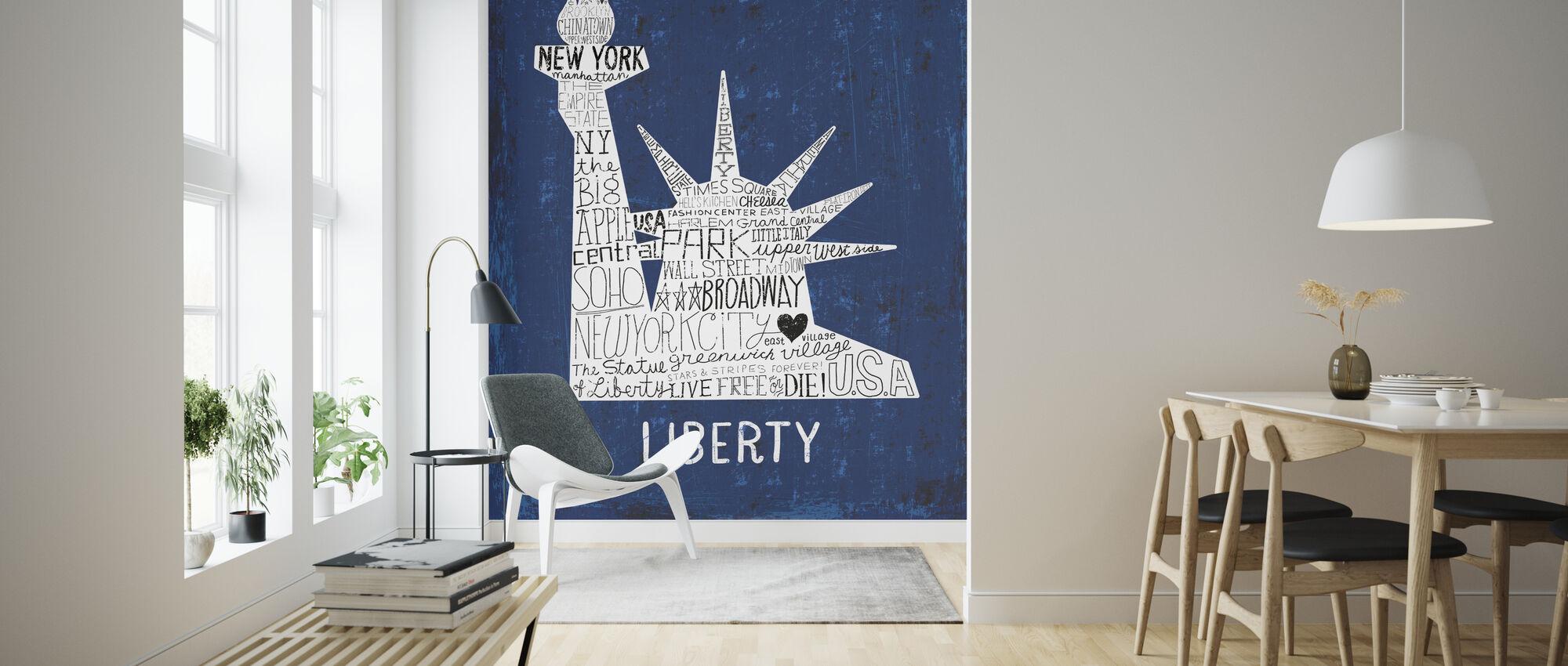 Iconic NYC II - Wallpaper - Living Room
