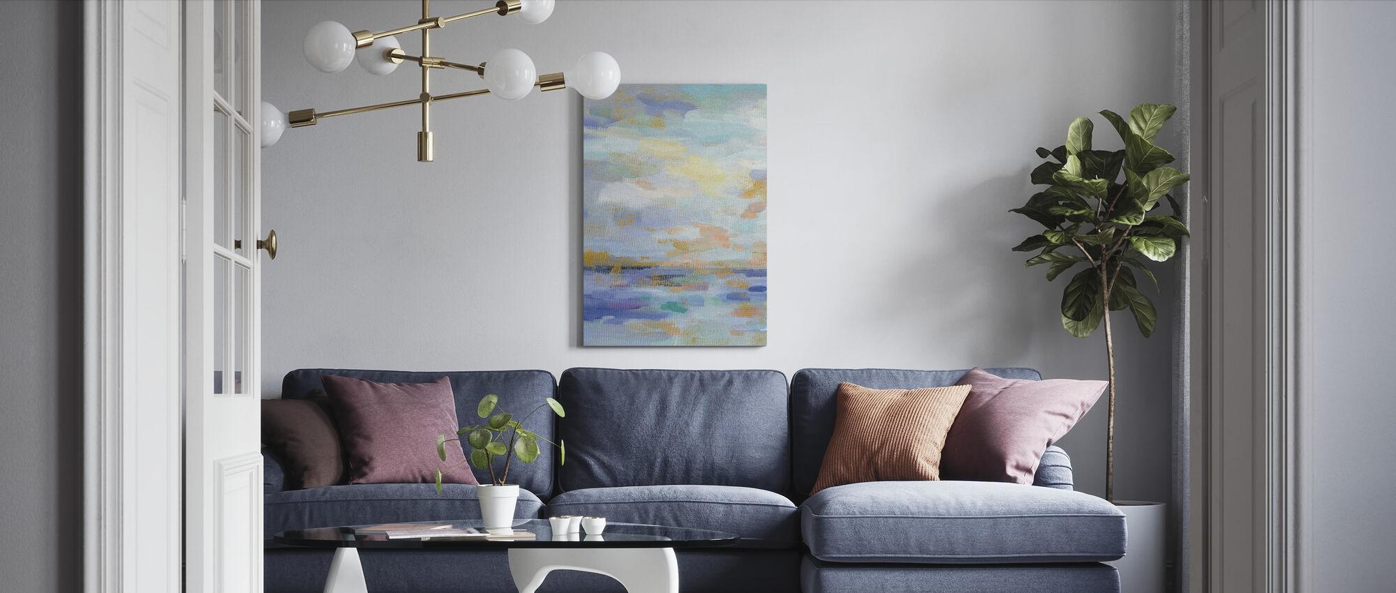 Gouden Zonsopgang II - Canvas print - Woonkamer