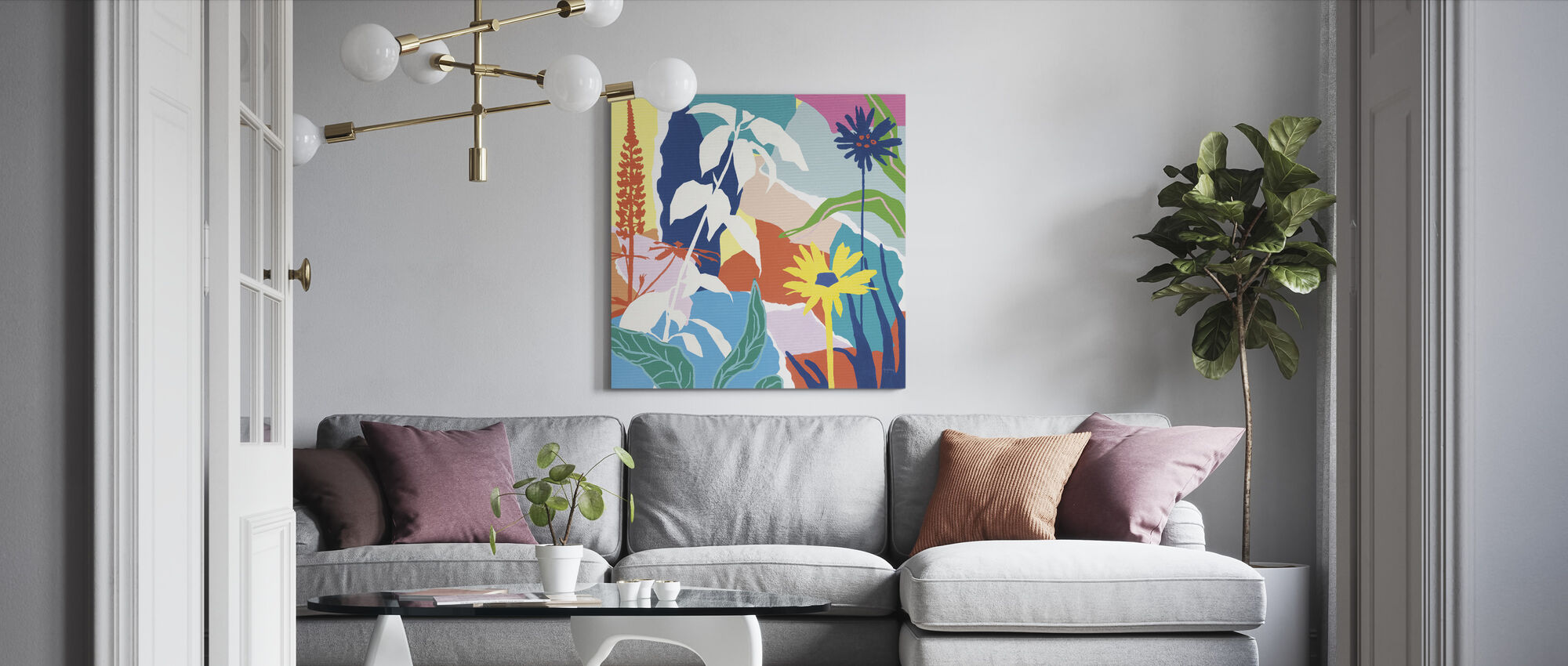 Happy Place II - Canvas print - Living Room