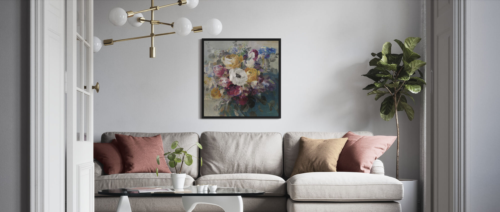 Fall Bouquet - Framed print - Living Room