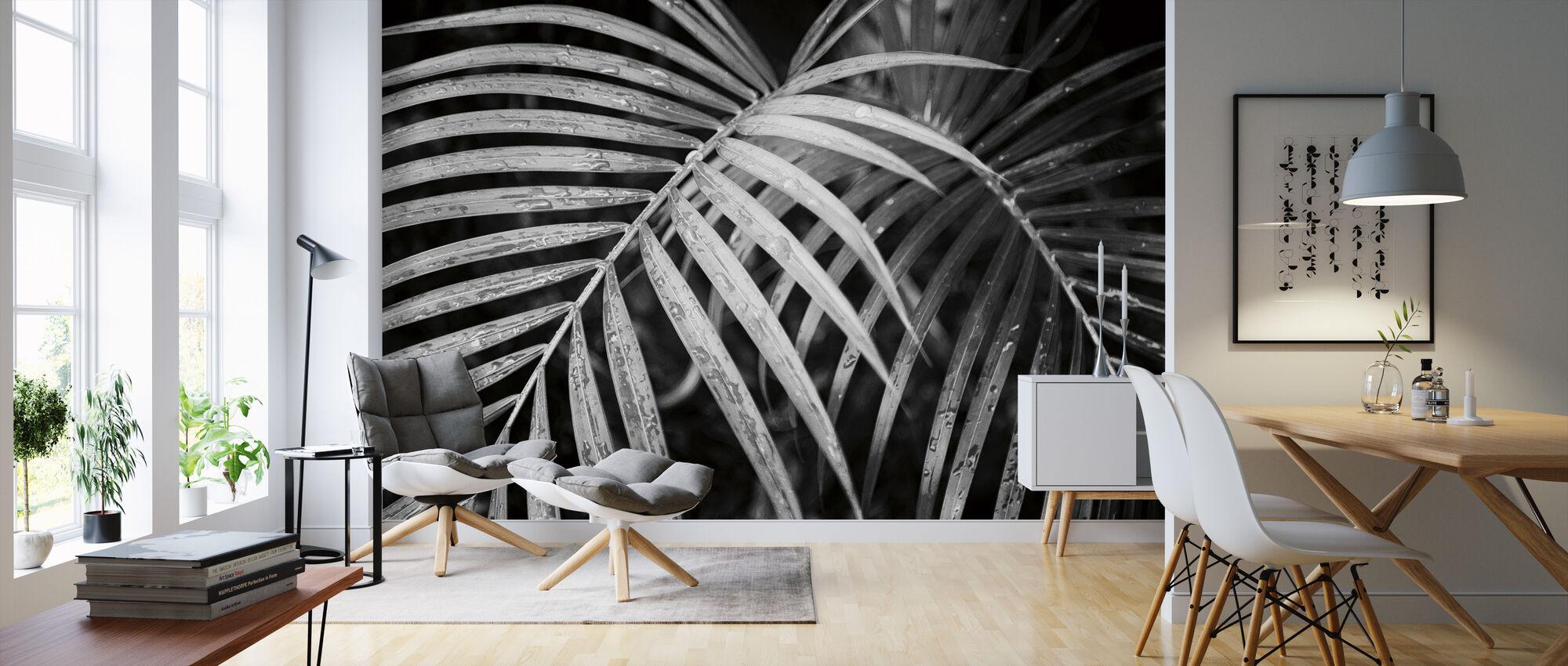 Palmschijfjes - Behang - Woonkamer