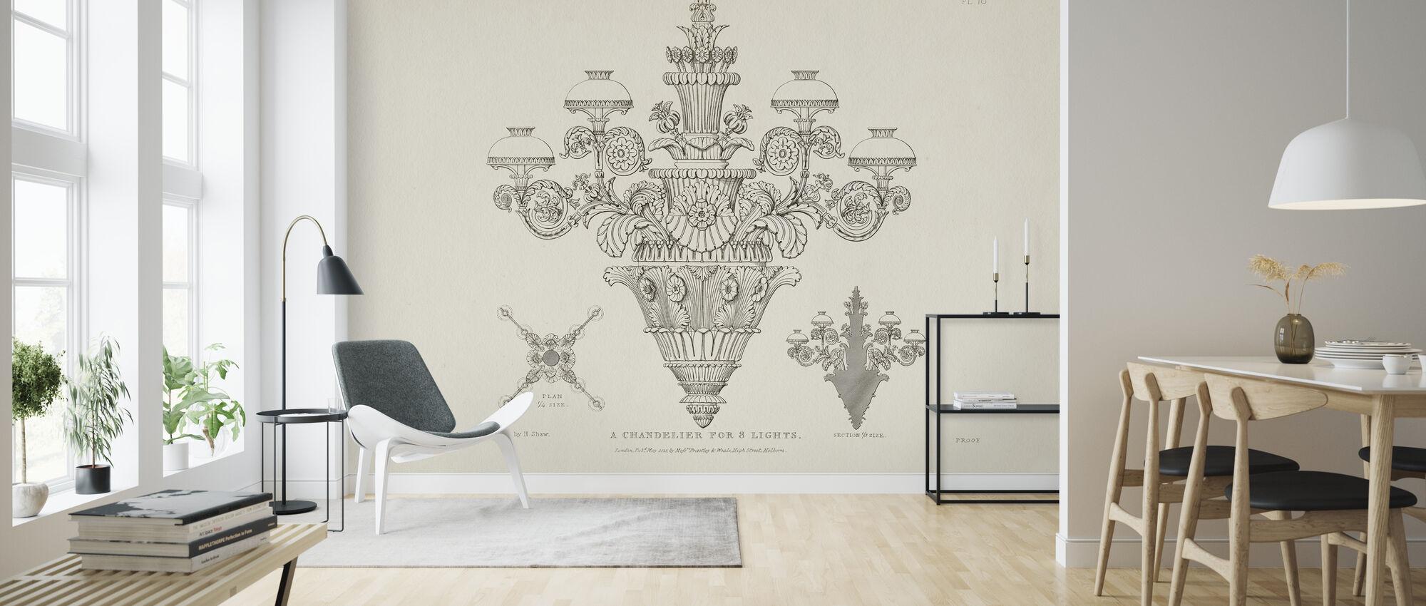 Ornamental Metal Work X Light - Wallpaper - Living Room