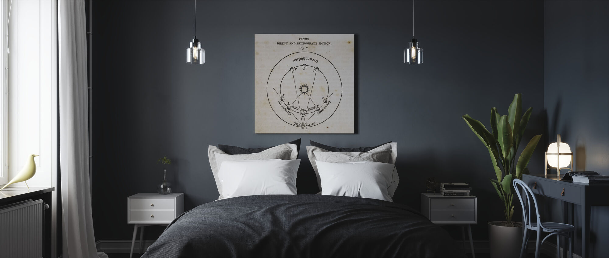 Geography of the Heavens IX - Canvas print - Bedroom
