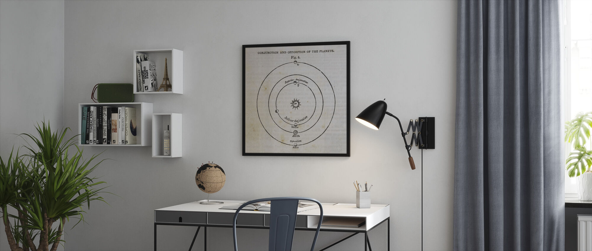 Geography of the Heavens X - Framed print - Office