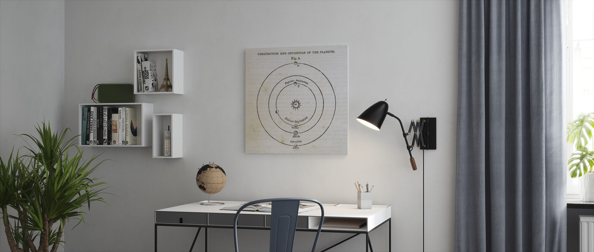 Geography of the Heavens X - Canvas print - Office