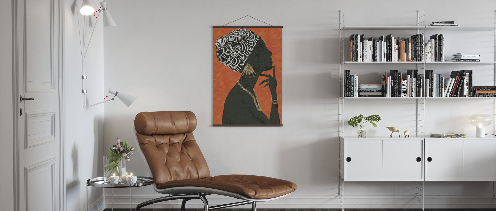 Graceful Majesty I Orange - Poster - Living Room
