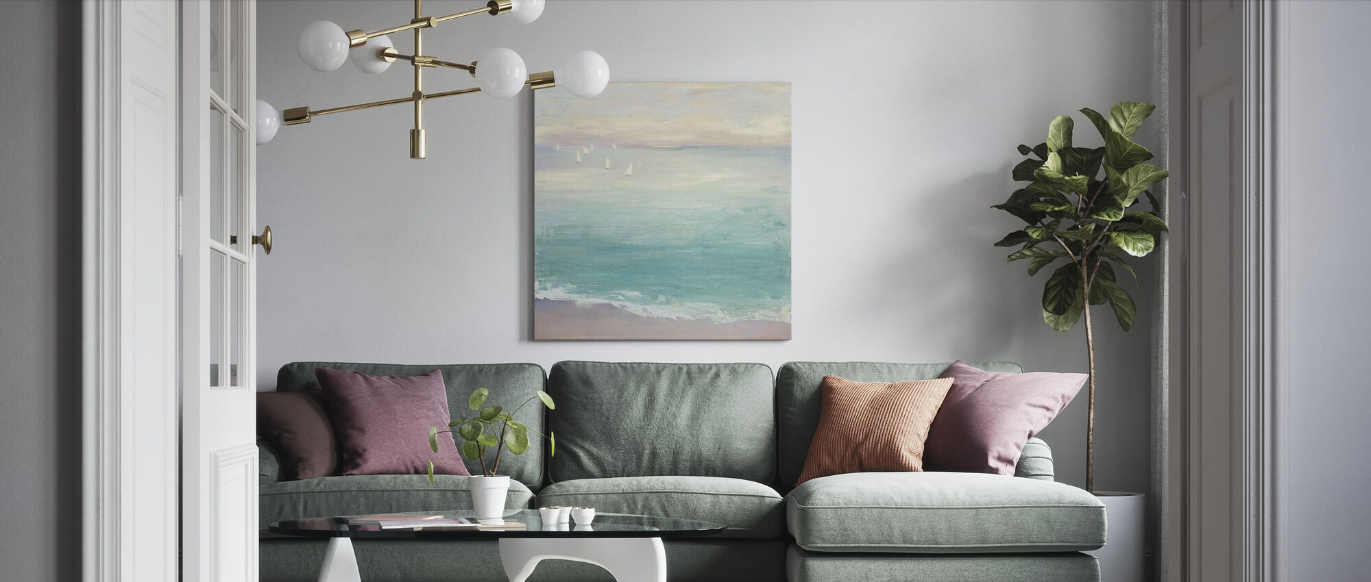 From the Shore - Canvas print - Living Room