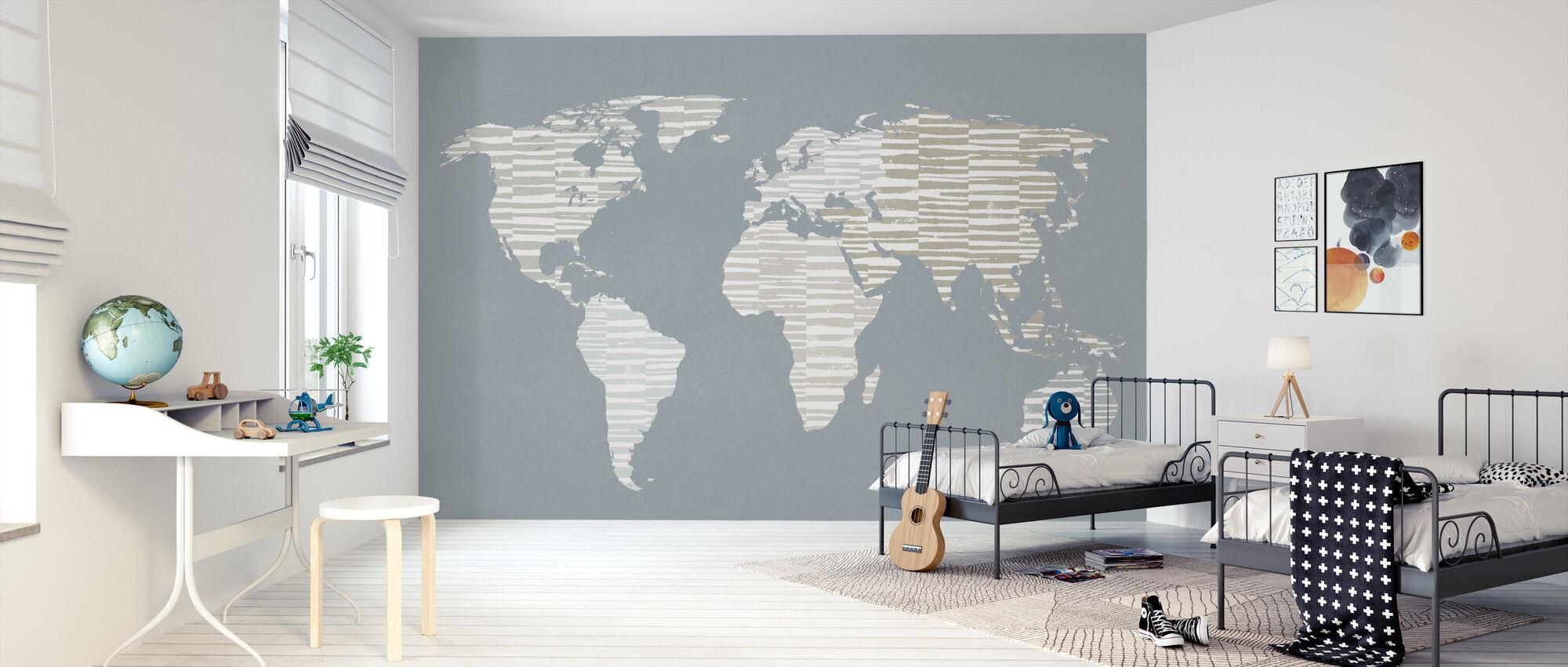 Calm World Map - Wallpaper - Kids Room