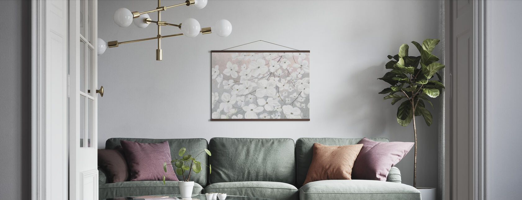 Bringing in Blossoms - Poster - Living Room