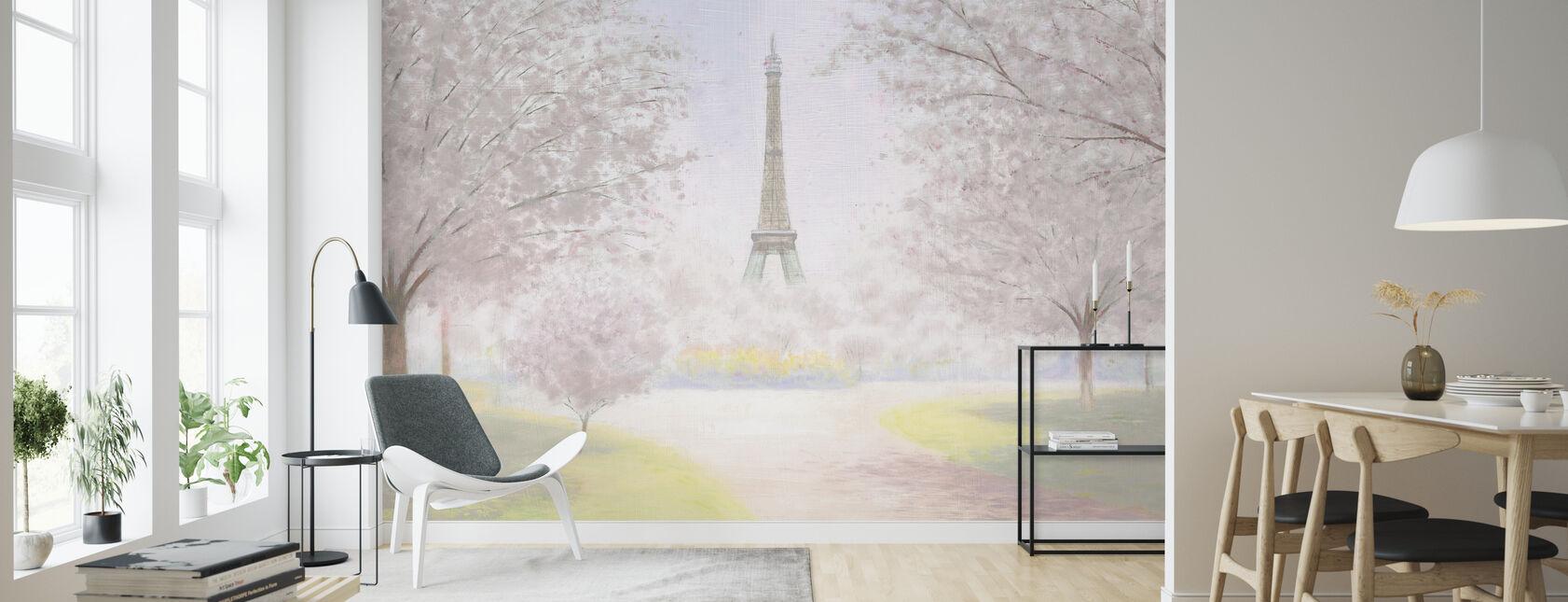 Pretty Paris - Wallpaper - Living Room