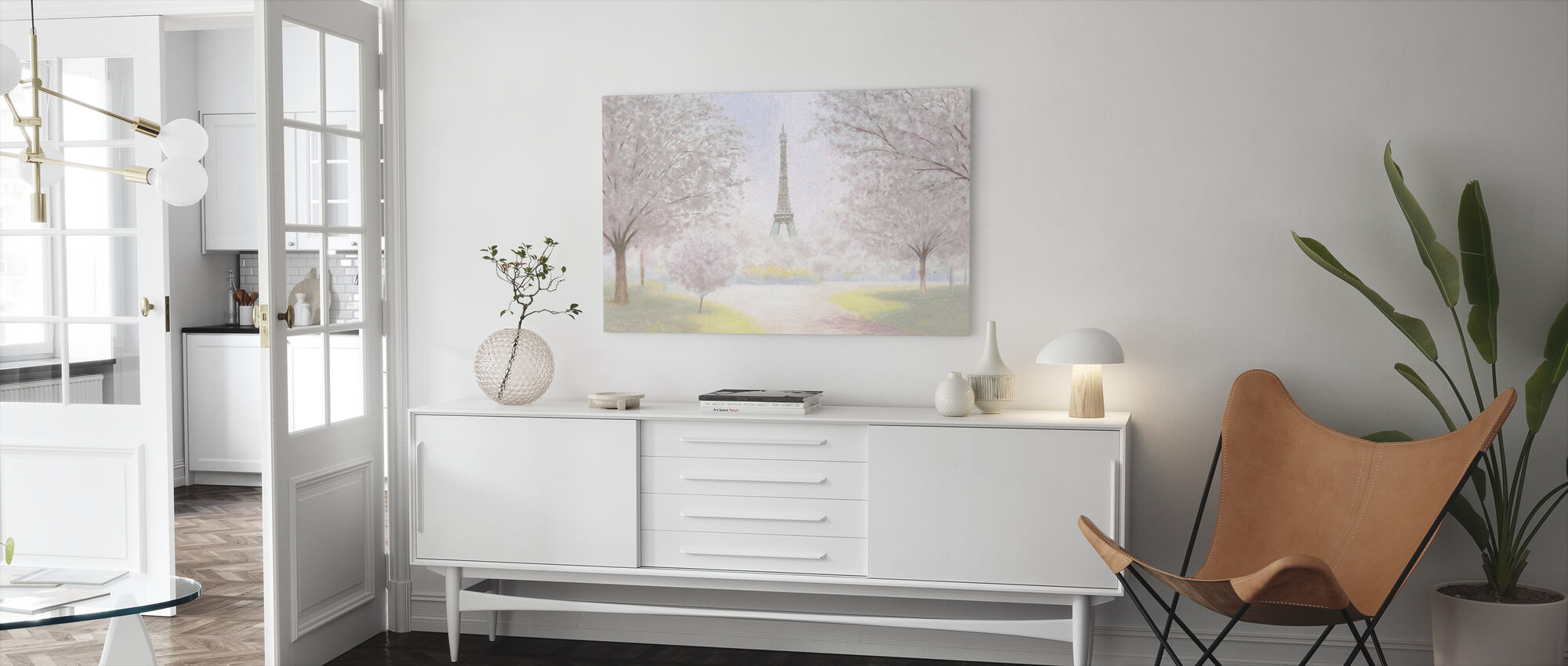 Pretty Paris - Canvas print - Living Room
