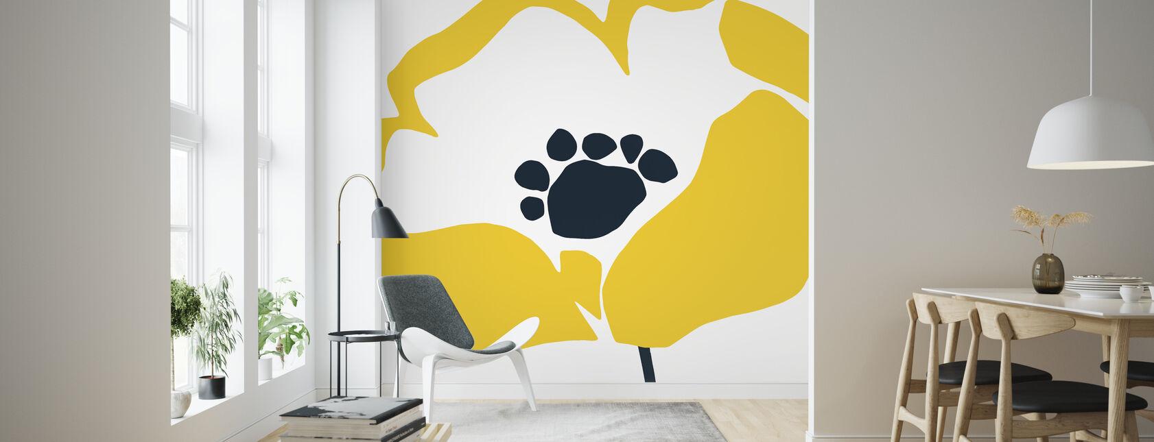Décorations murales jaunes