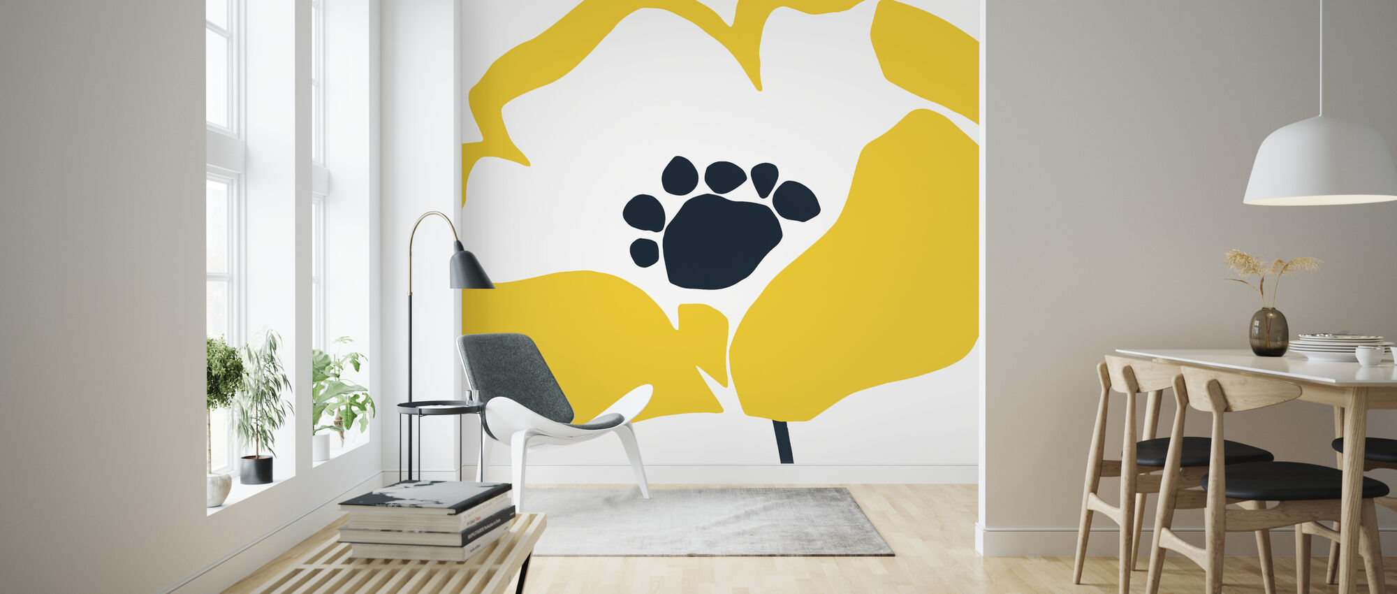 Pop Art Floral II - Wallpaper - Living Room