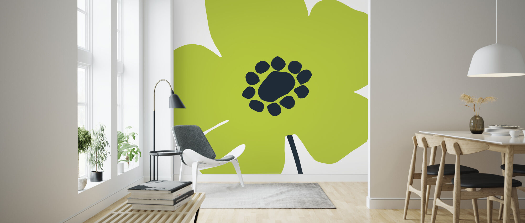 Pop Art Floral IV - Wallpaper - Living Room