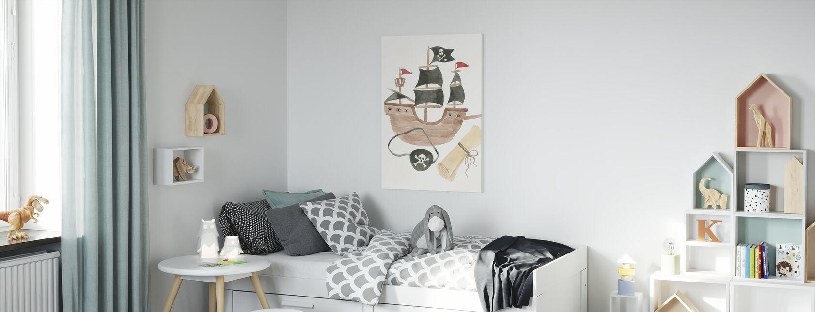 Pirates IV on White - Canvas print - Kids Room