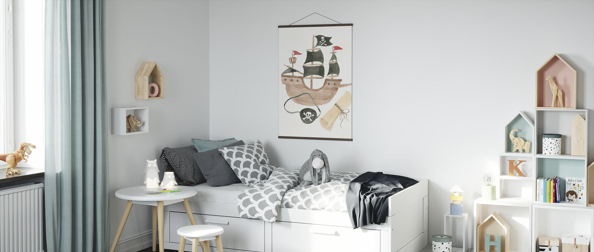 Pirates IV on White - Poster - Kids Room