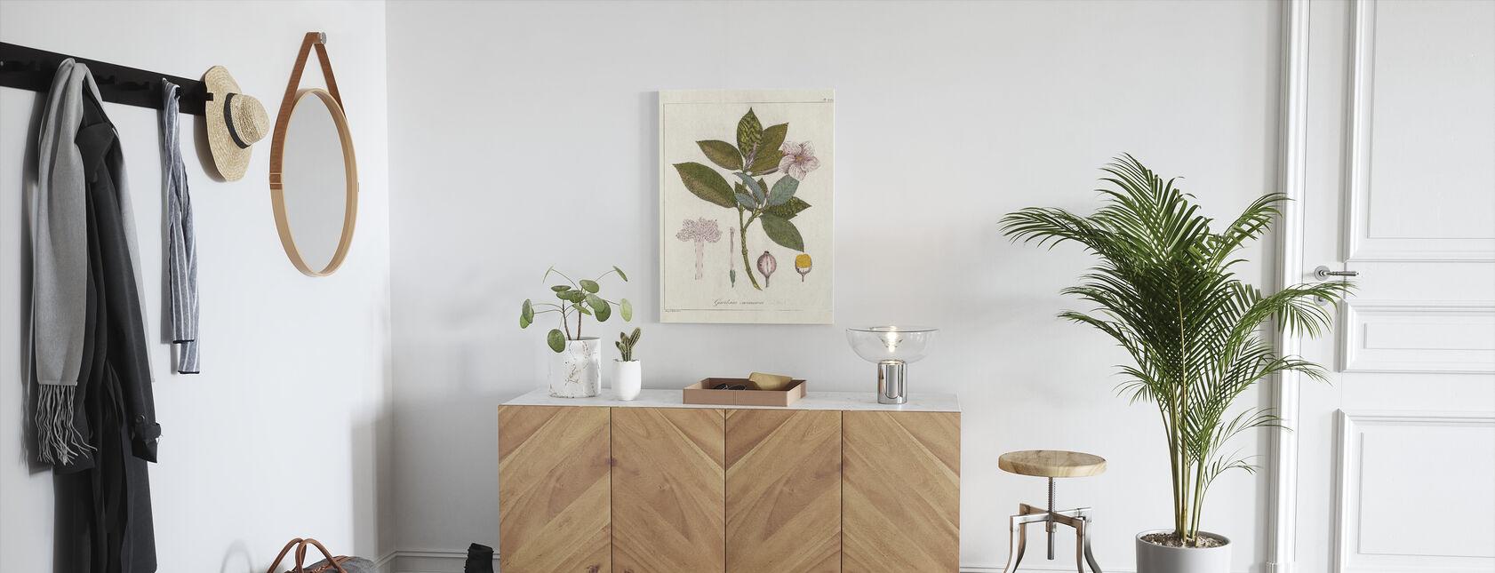 Botanische Gardenia v2 - Canvas print - Gang