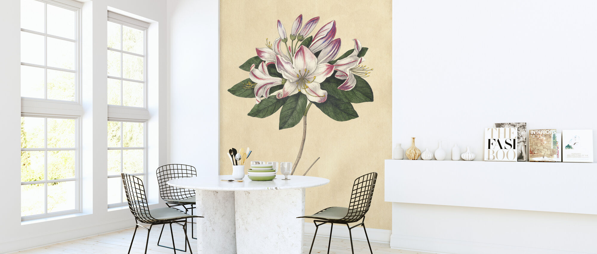 Rhododendron Vintage - Wallpaper - Kitchen