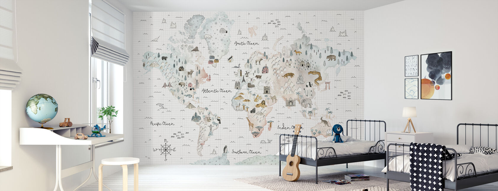 World Traveler I - Wallpaper - Kids Room