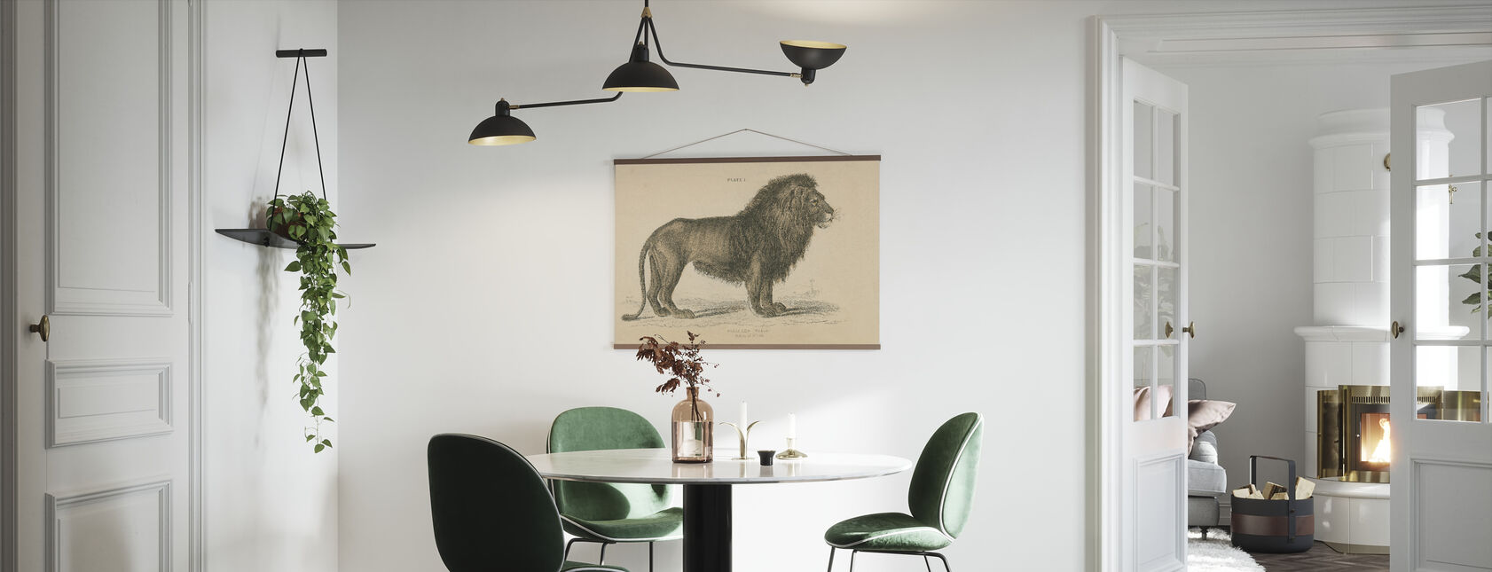 Vintage Lion - Juliste - Keittiö