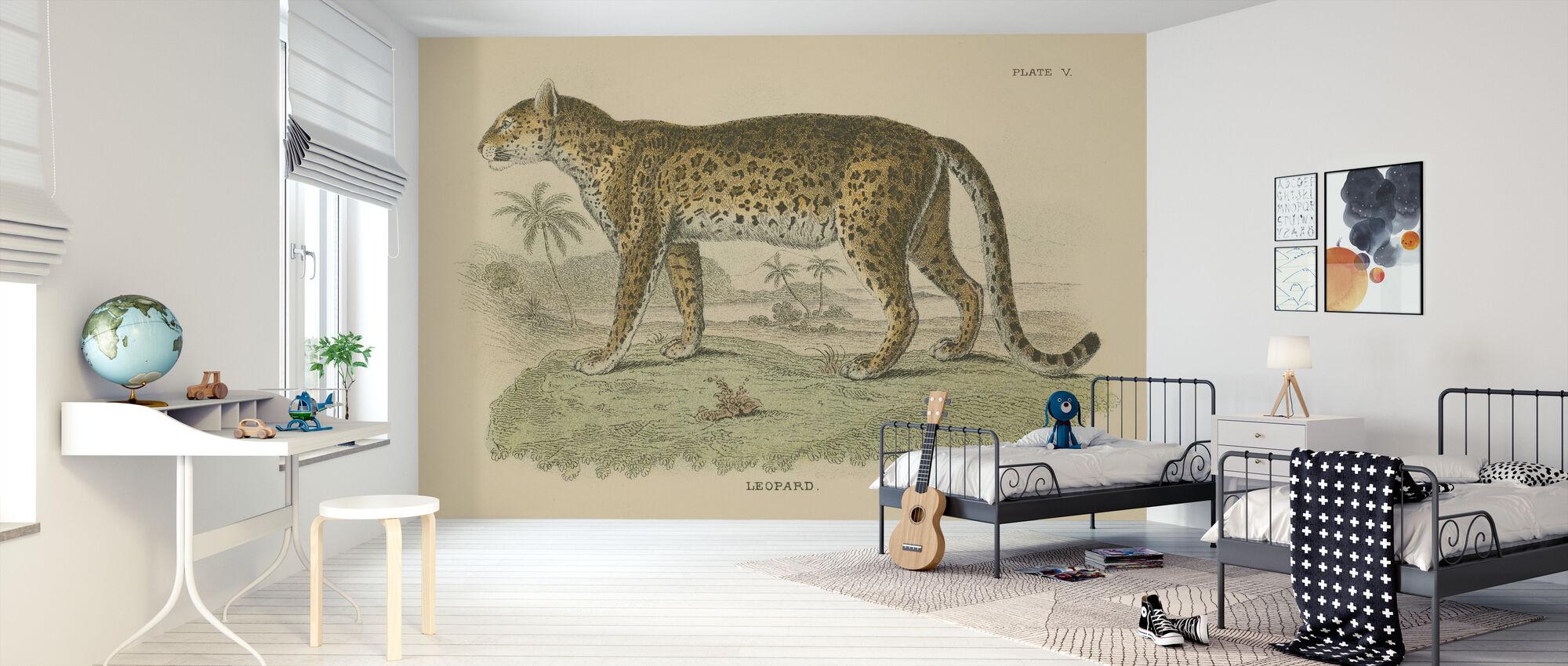 Vintage Leopard - Tapet - Barnerom