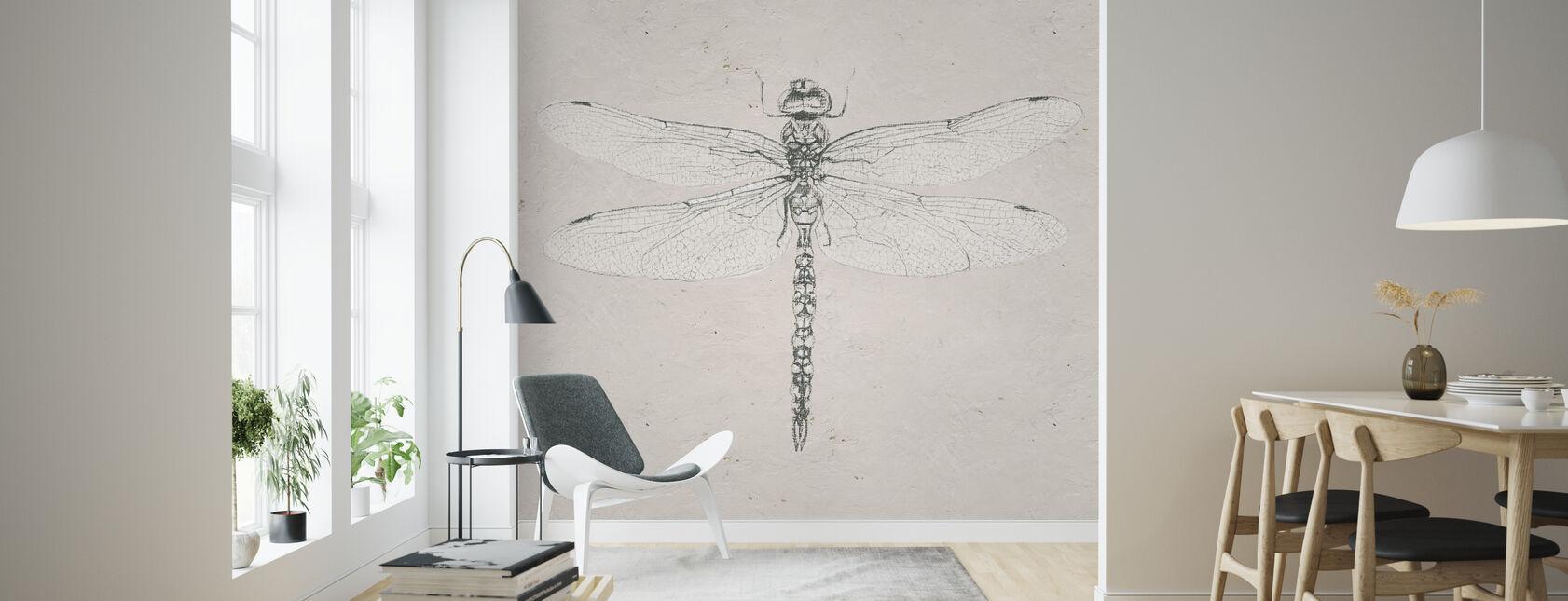Soft Summer Sketches VI - Wallpaper - Living Room