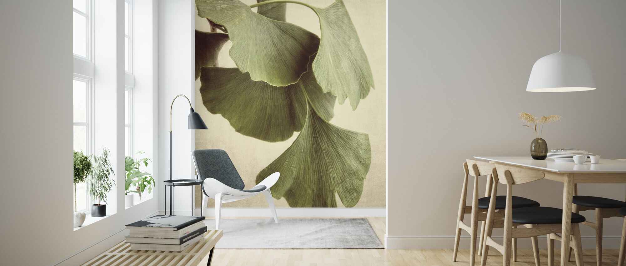 Gingko Color - Wallpaper - Living Room