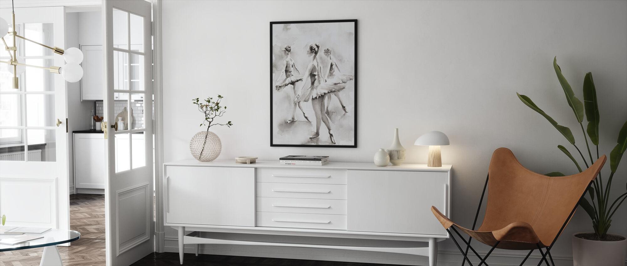 Three Ballerinas - Framed print - Living Room