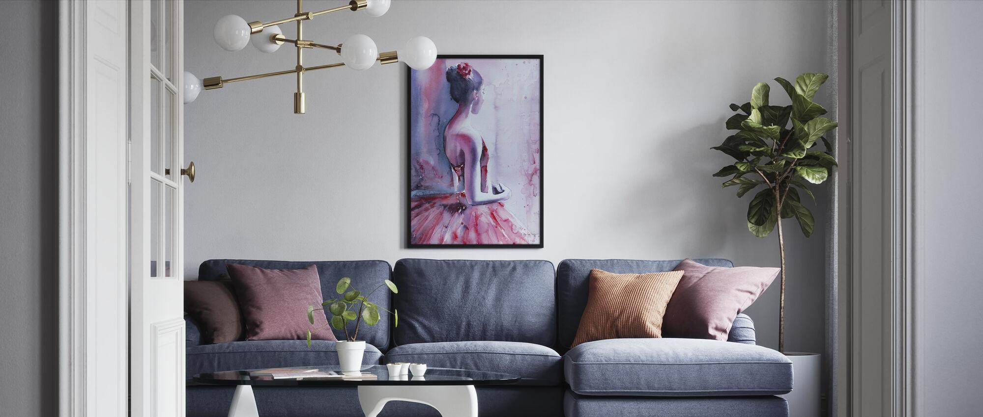 Backstage Nerves - Framed print - Living Room