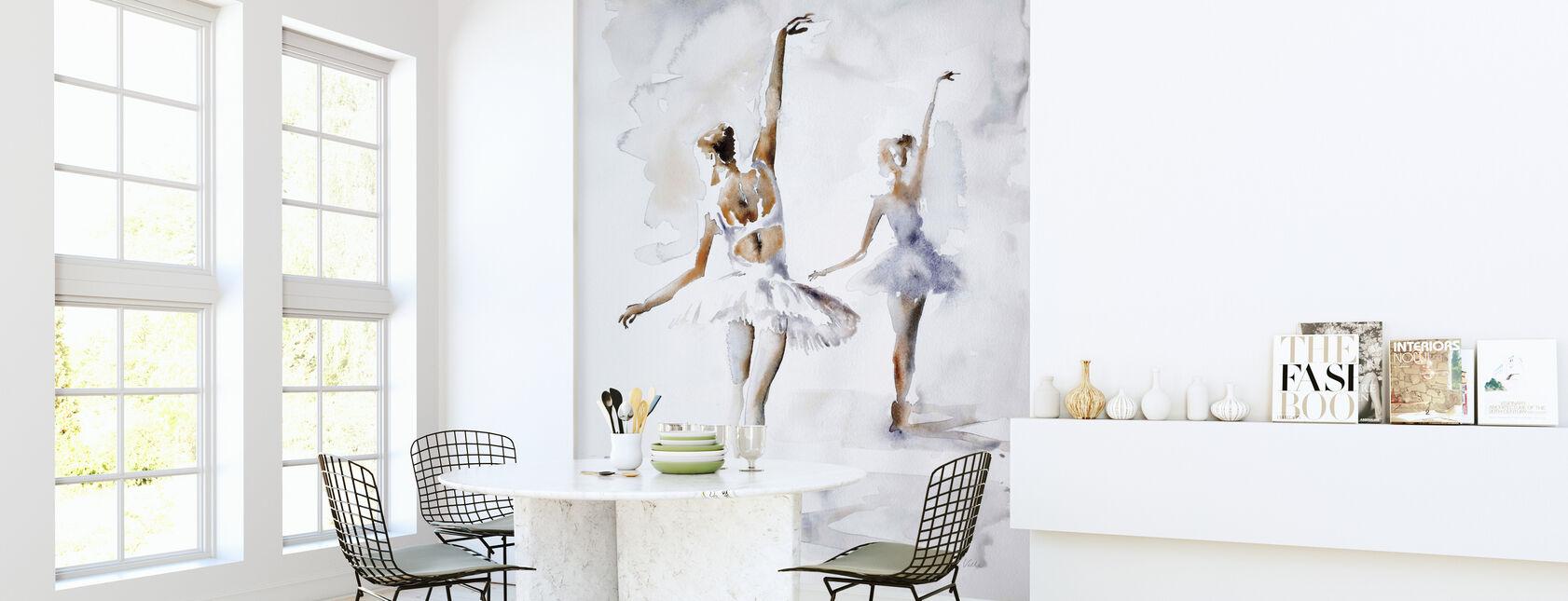 Ballerina In Blue - Wallpaper - Kitchen