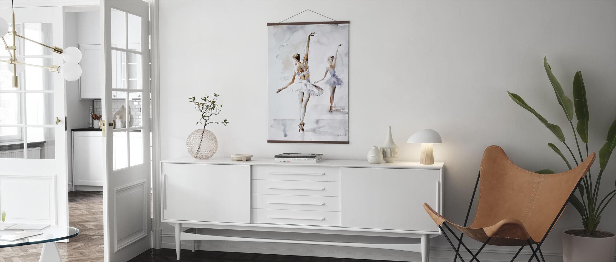 Ballerina I Blå - Plakat - Stue