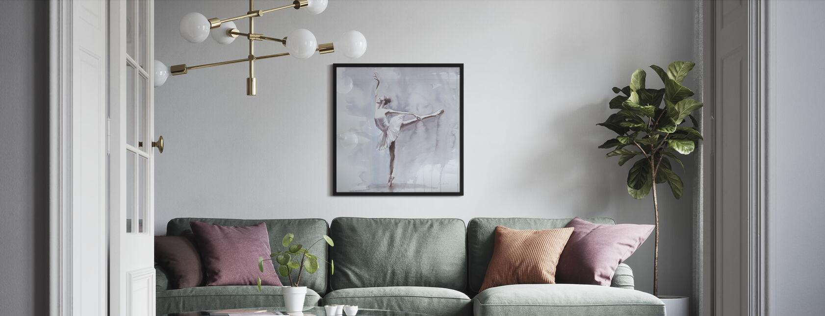 Dusky Arabesque - Framed print - Living Room