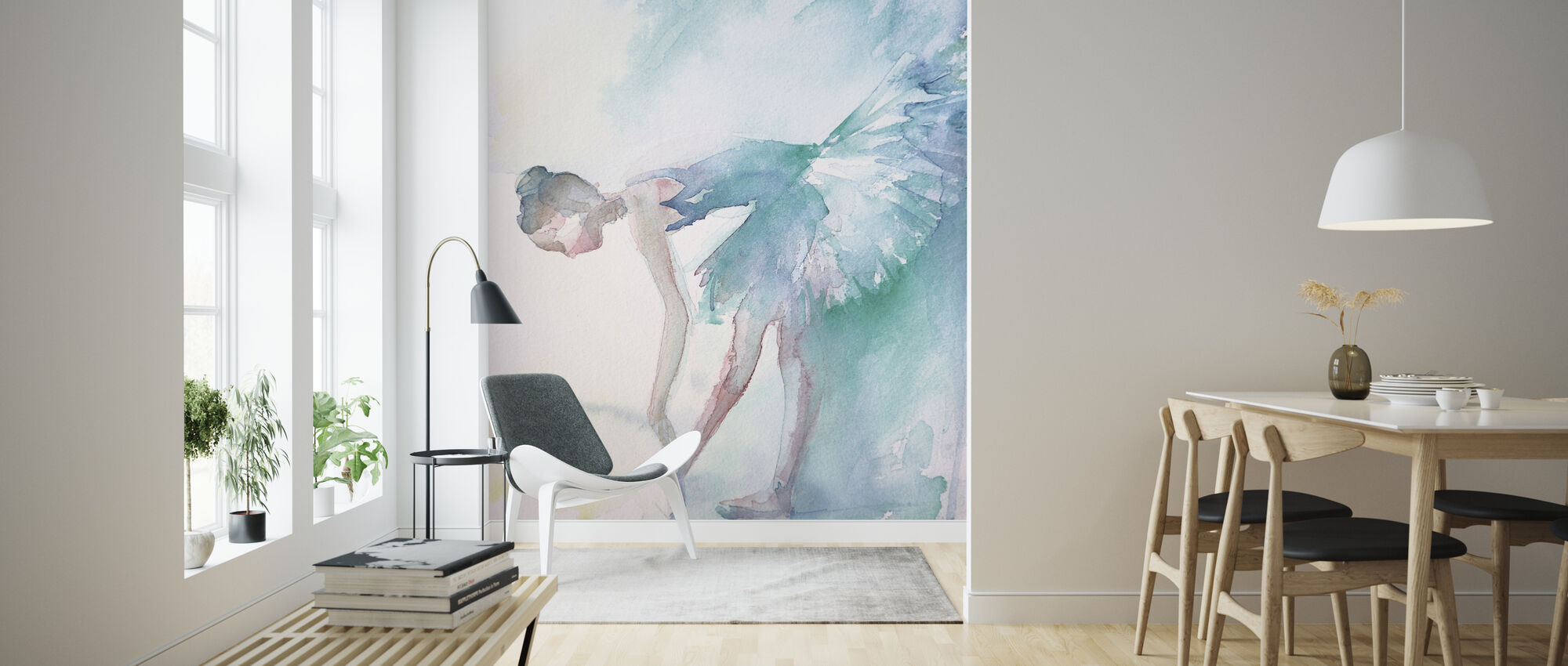 Pointe Shoes - Wallpaper - Living Room