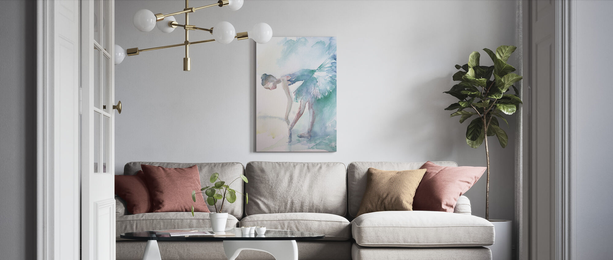 Pointe Shoes - Canvas print - Living Room