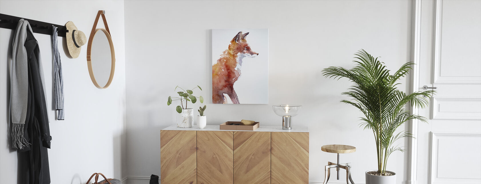 Sly as a Fox - Canvas print - Hallway