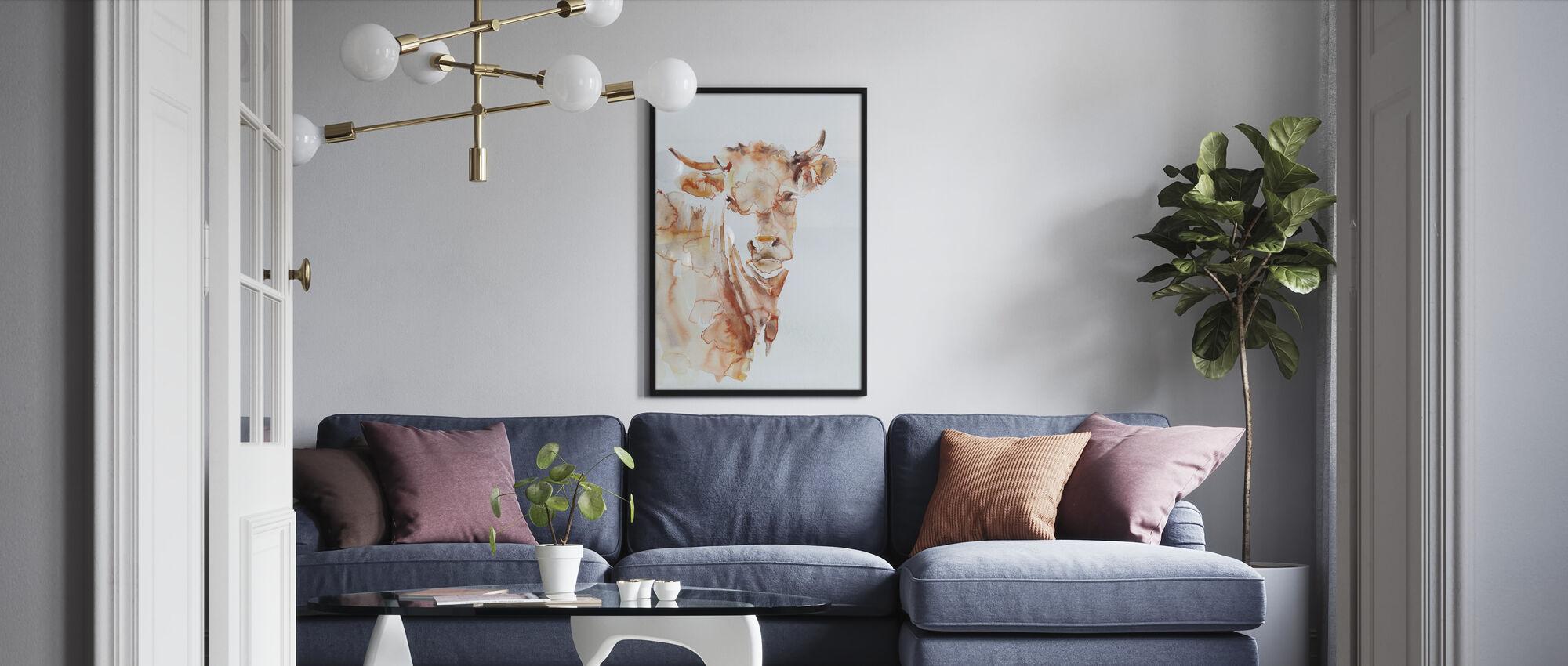 Village Cow - Framed print - Living Room