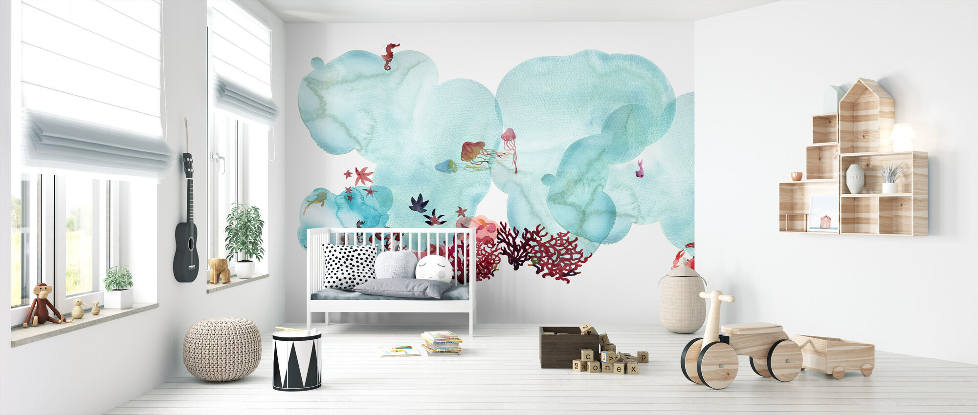 Water Color Coral I - Wallpaper - Nursery