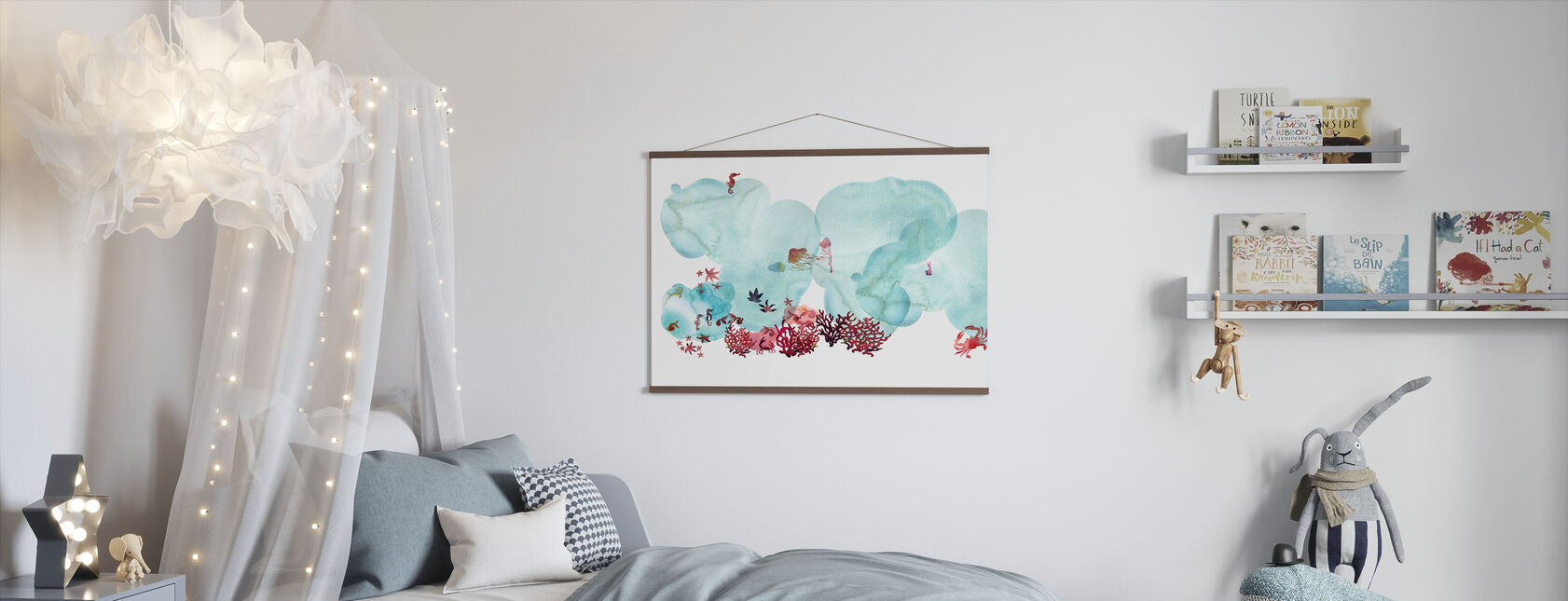 Water Color Coral I - Poster - Kids Room