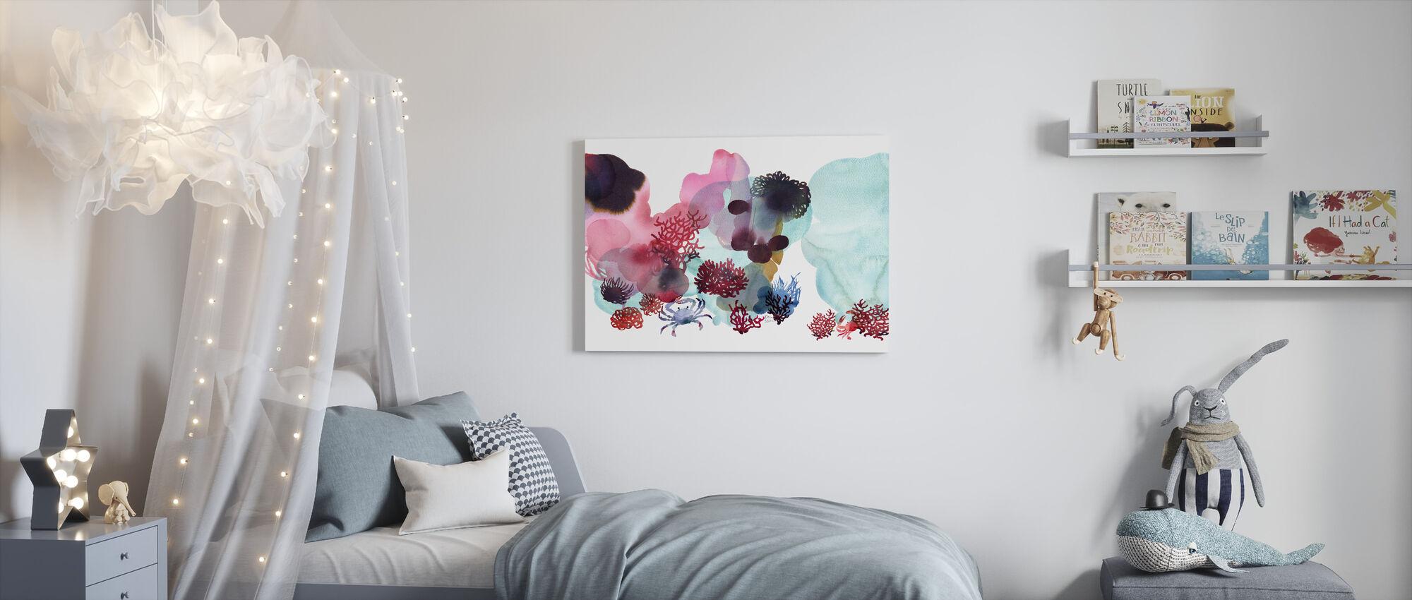 Water Kleur Koraal II - Canvas print - Kinderkamer