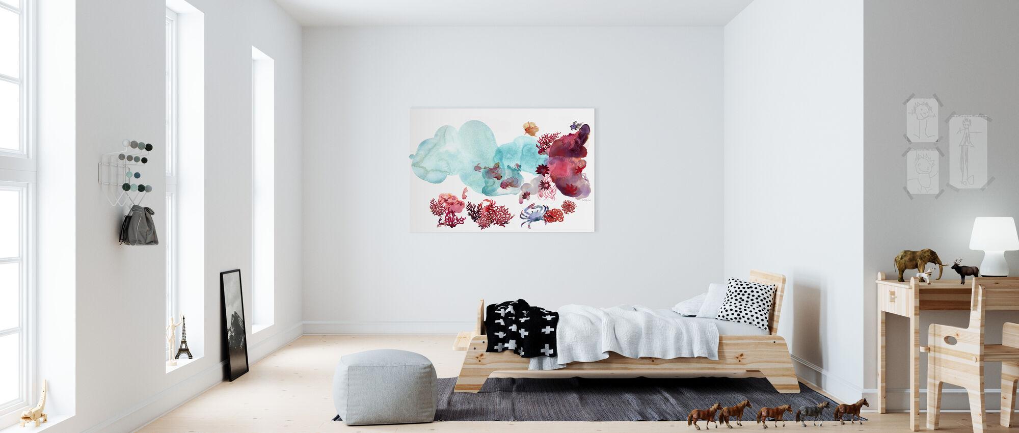 Vattenfärg Korall III - Canvastavla - Barnrum