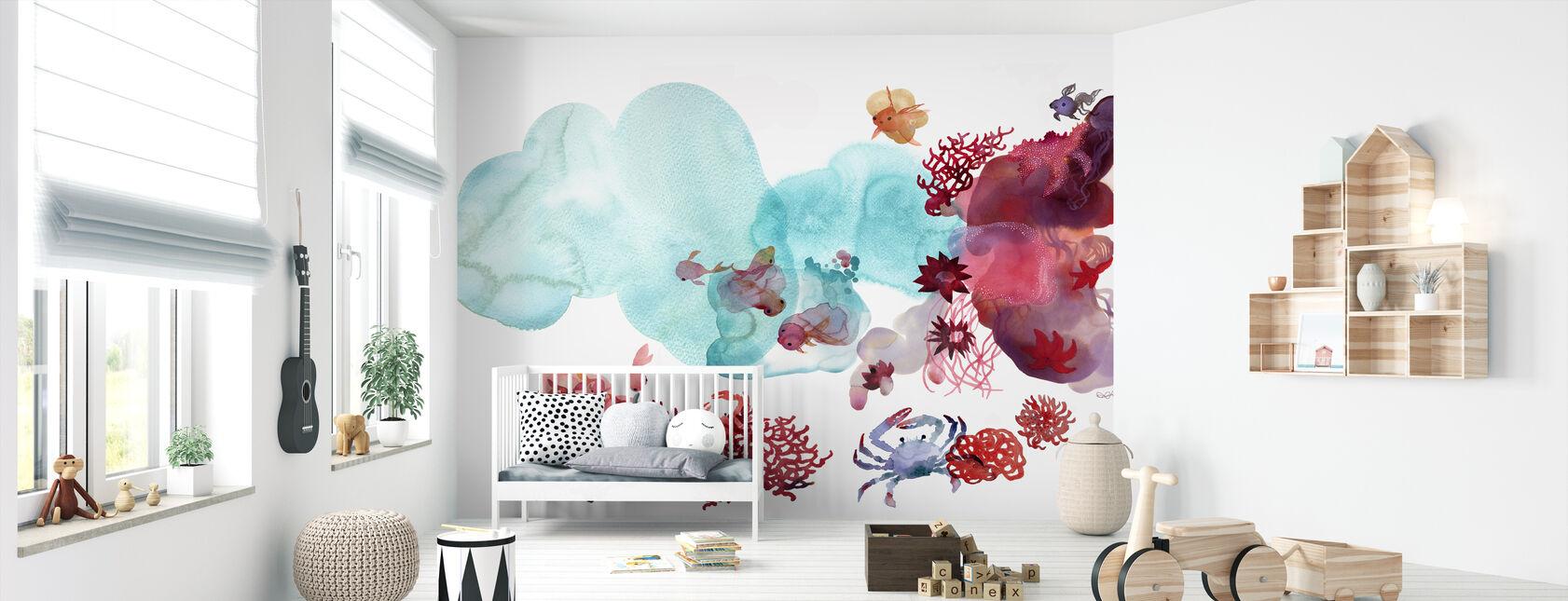 Couleur de l'eau Coral III - Papier peint - Chambre de bébé