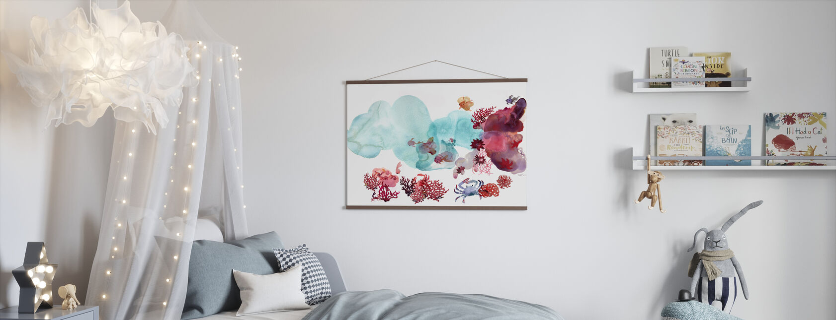 Water Color Coral III - Poster - Kids Room