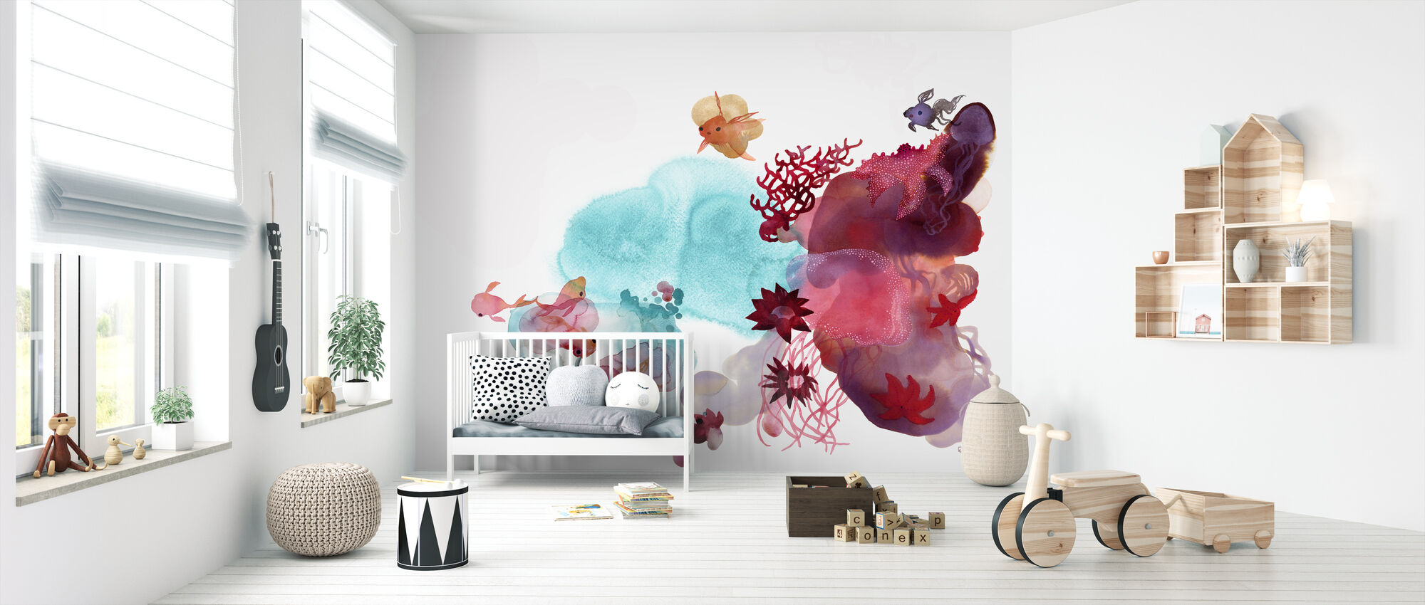 Water Color Coral IV - Wallpaper - Nursery