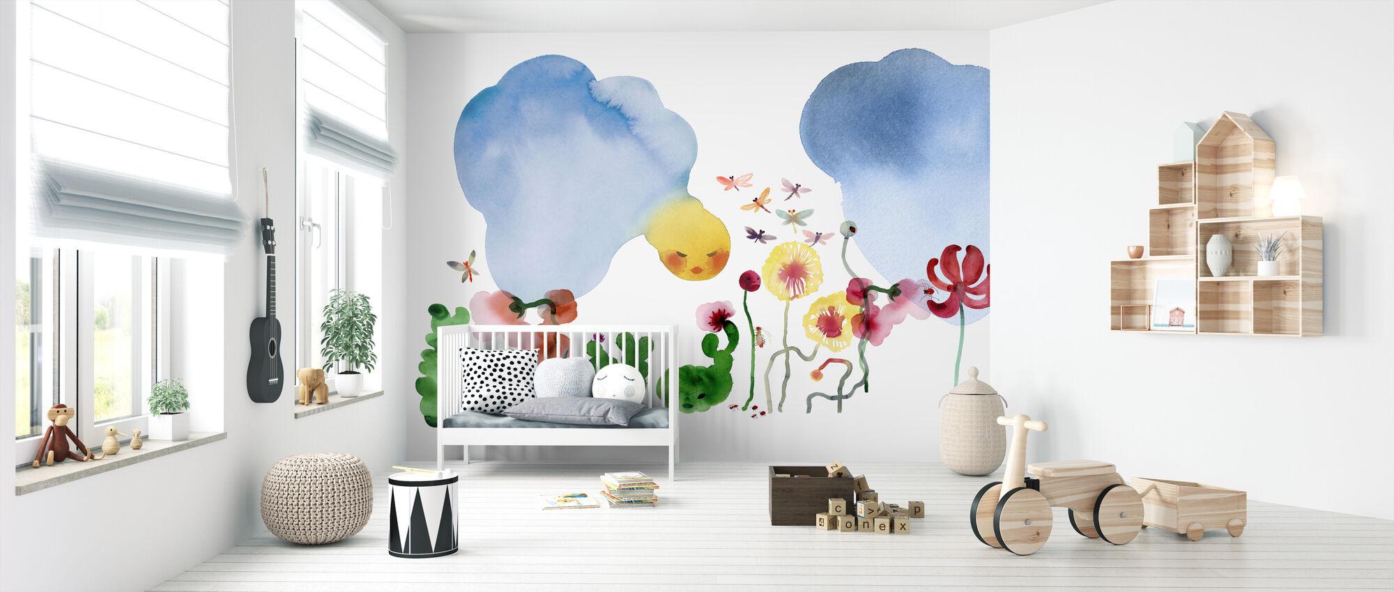 Water Color Flowers I - Wallpaper - Nursery