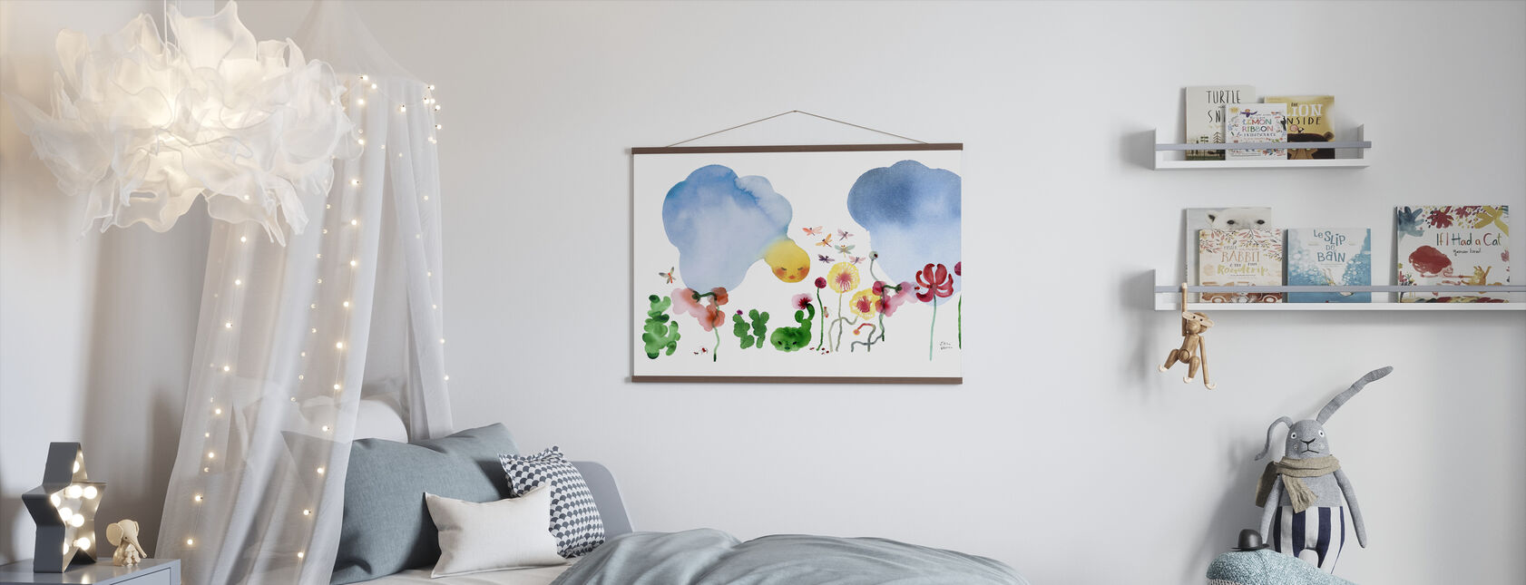 Water Color Flowers I - Poster - Kids Room