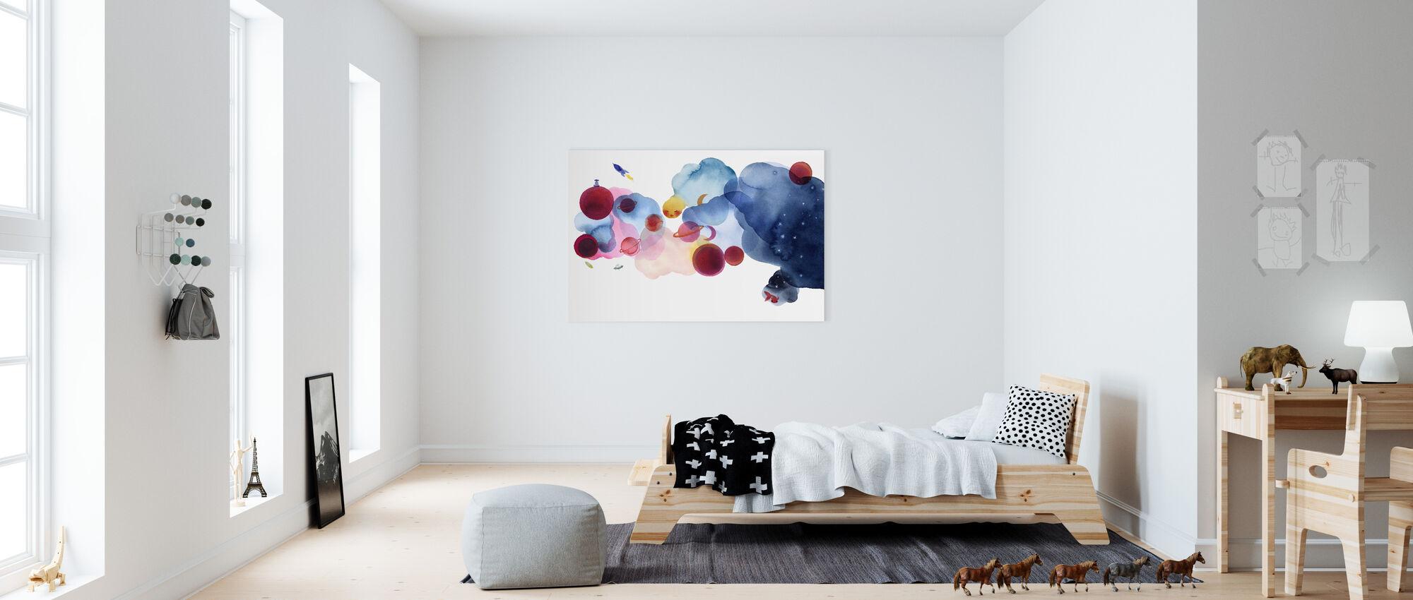 Couleur de l'eau Espace I - Impression sur toile - Chambre des enfants