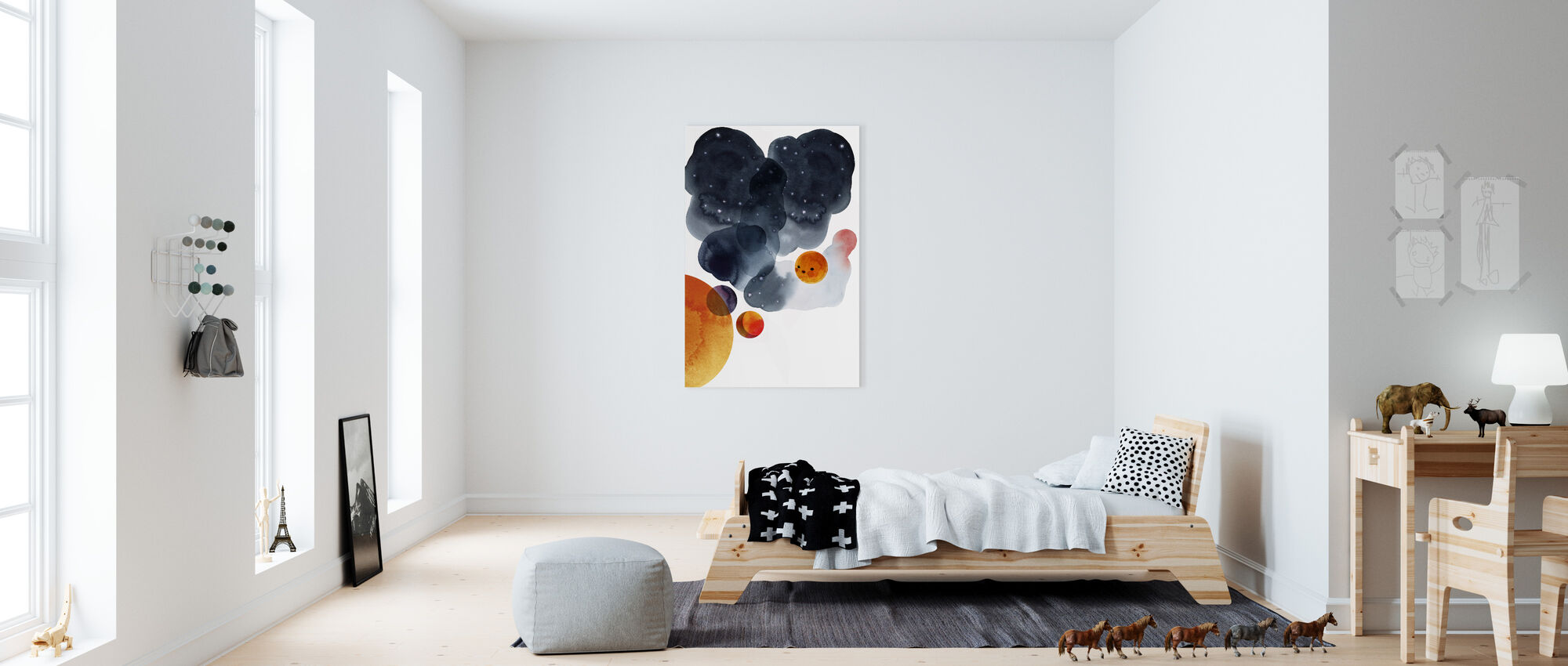 Water Color Space II - Canvas print - Kids Room