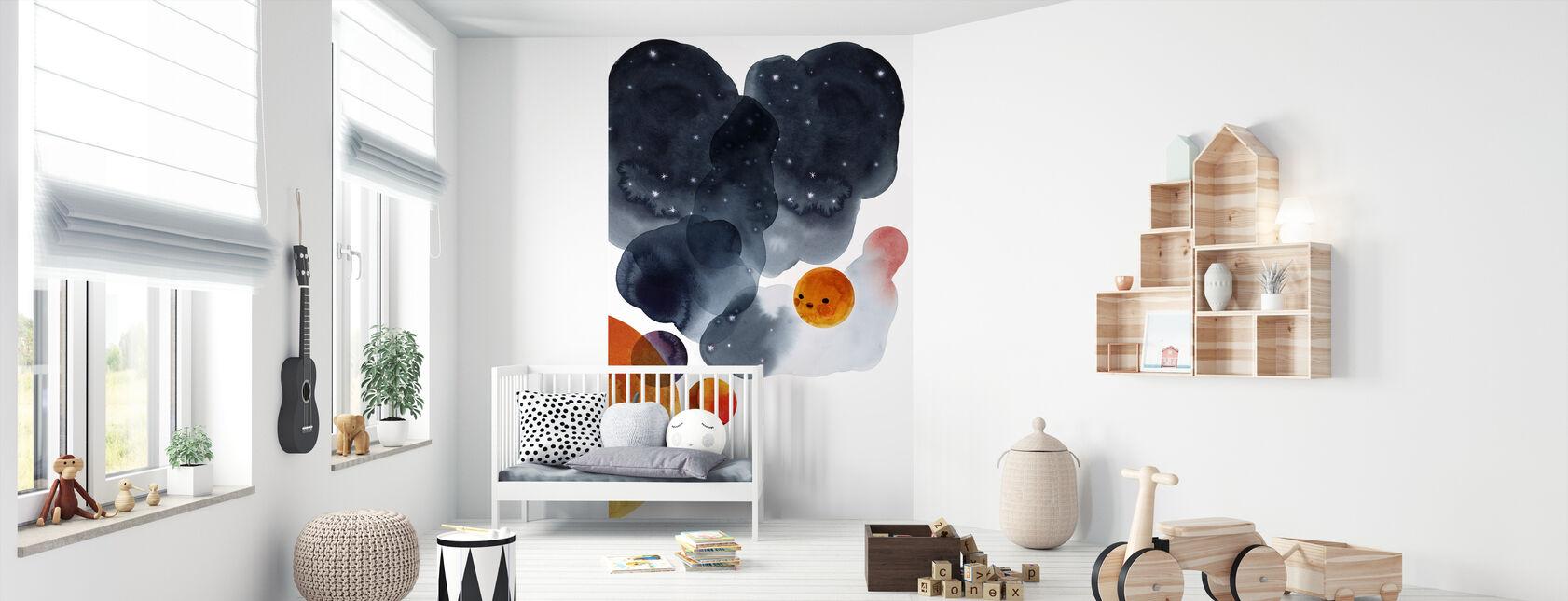 Water Color Space II - Wallpaper - Nursery